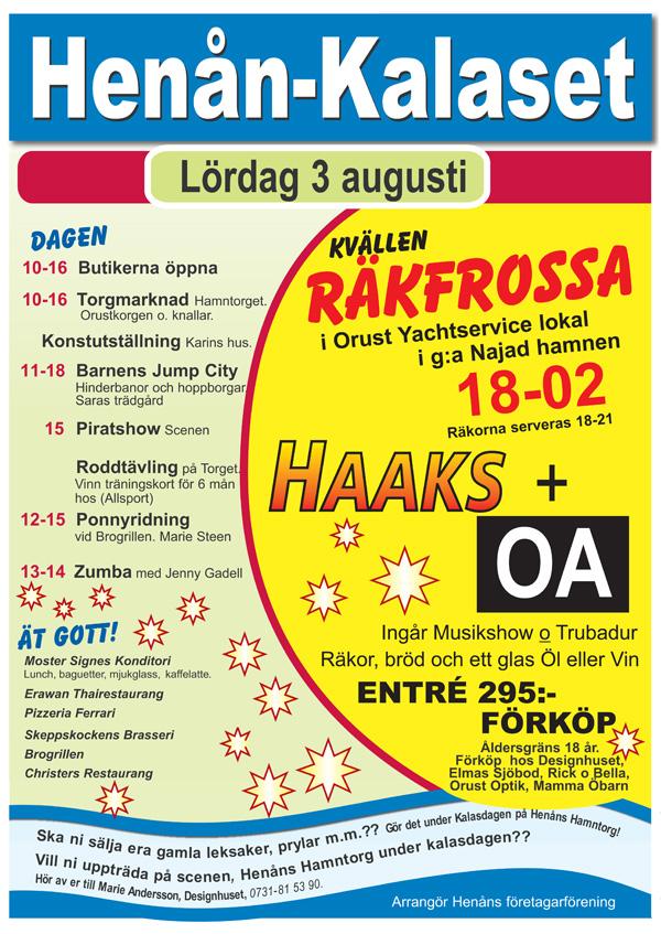 Henån-kalaset 3 Augusti 2013